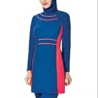 MOTIVE FORCE Color Block Srips New Fashion iIlamic Swimwear for Girls Maillot De Bain Muslim