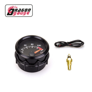 Dragon gauge 52mm black shell Car Moter 40~120Celsius Water temperature gauge Water temp Meter With Sensor for DO5054