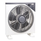 Foshan shunde factory price white gray double color new model square plastic wholesale 12 inch electric box fan