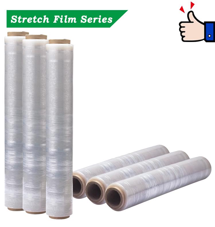 Di alta qualità trasparente rotoli di imballaggio di plastica avvolgere LLDPE stretch film