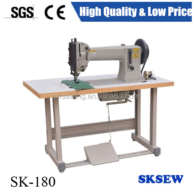 Extra heavy duty single needle industrial lockstitch sewing machine