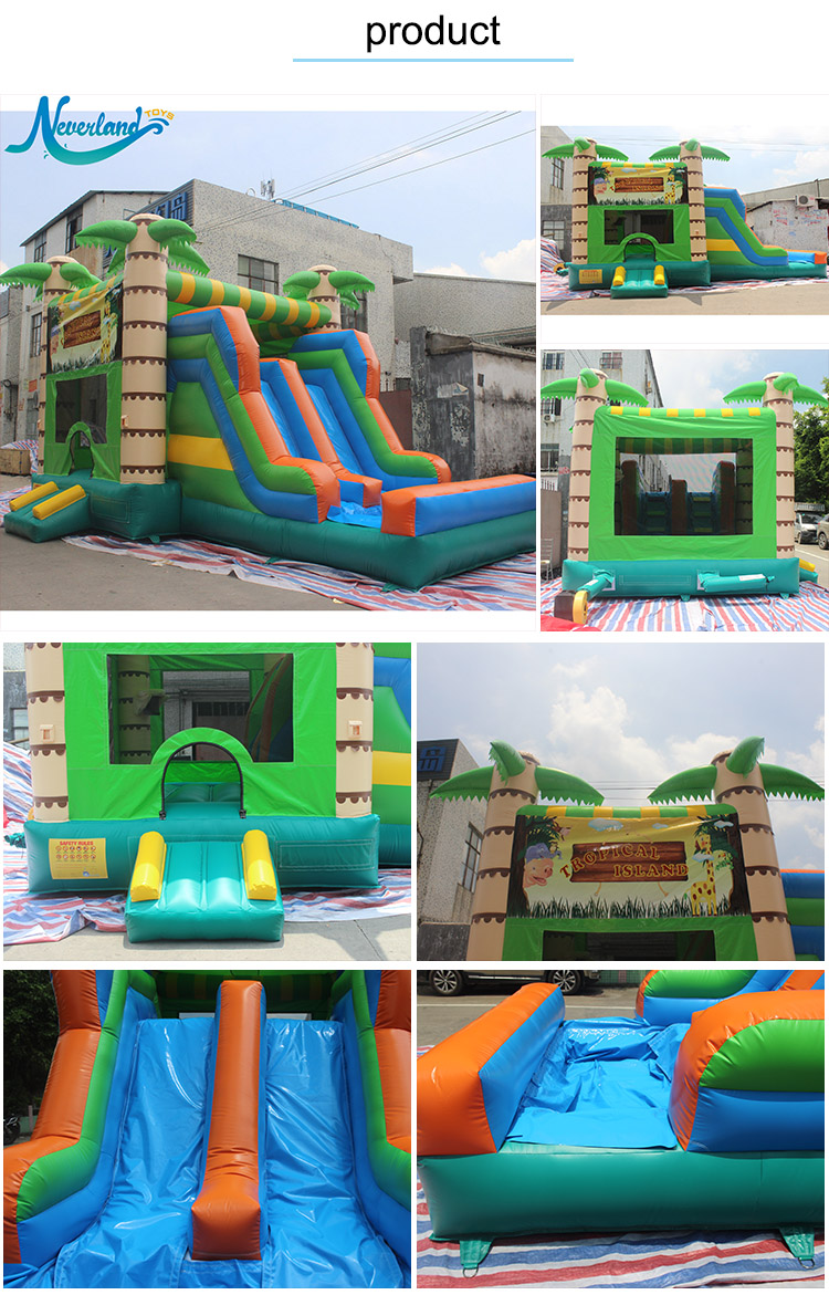 Commercial Small Air Jumping Bounce Castle House Combo Kids Inflatable Bouncer For Sale