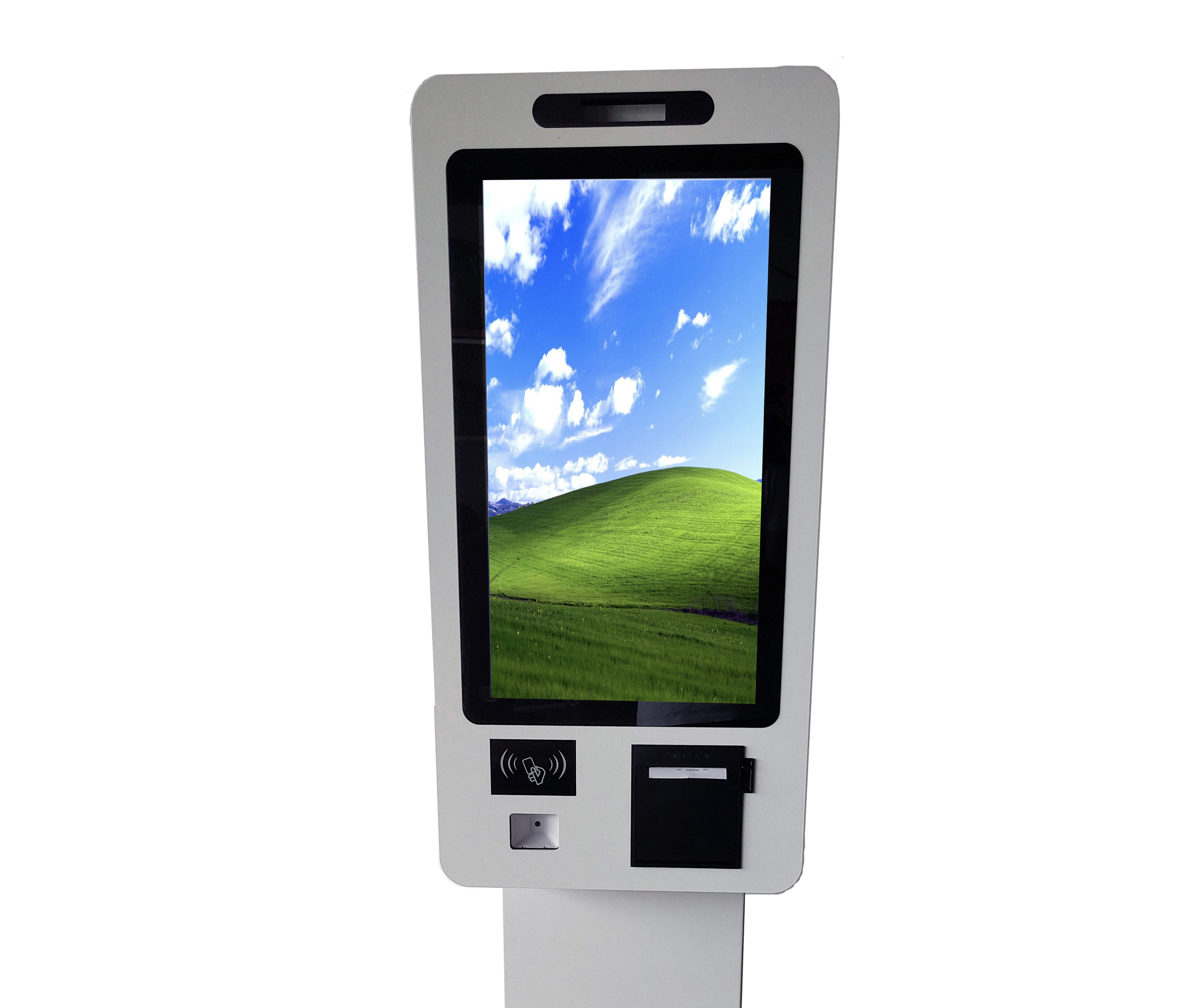All In One 21.5 inch Capacitive Touch Screen Kiosk terminal cash <strong>payment</strong> machine with printer and scanner