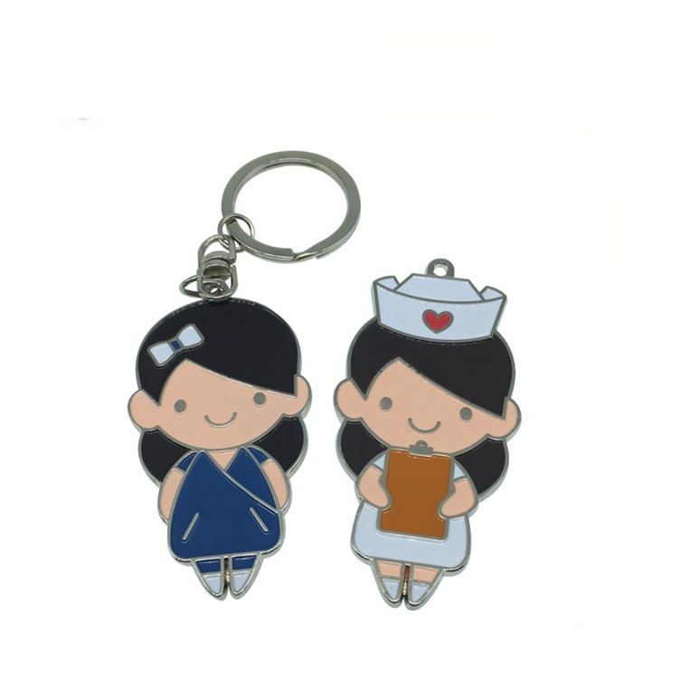 custom nurse metal keychain for bag
