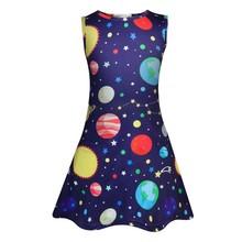 Платья для маленьких девочек; Вечерние платья без рукавов на день рождения для девочек; Летнее платье с рисунком бабочки и единорога для дев...(Китай)