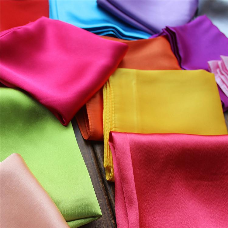 55*55 см простые квадратные атласные Оптовые Заказные шелковые шарфы шарф