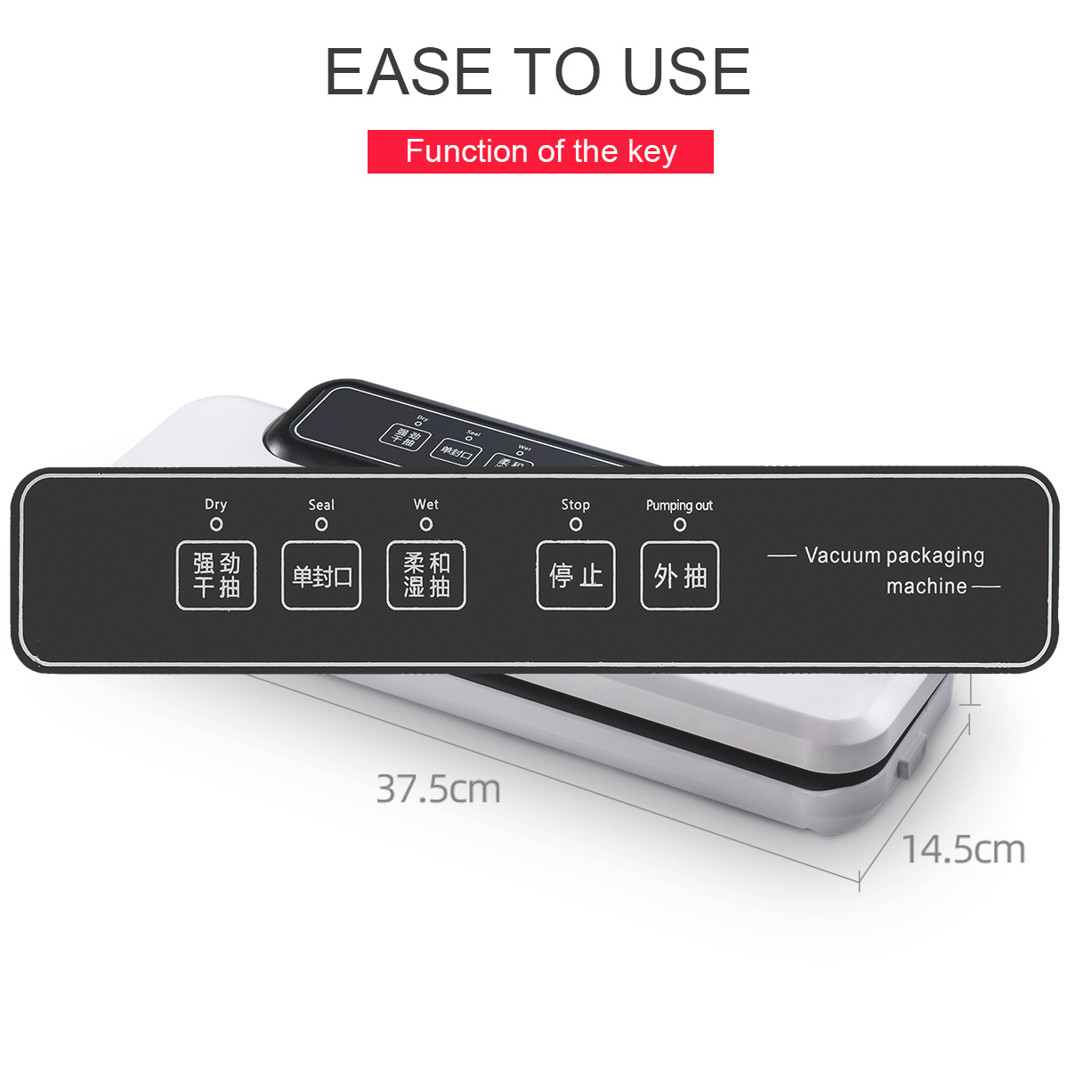 Vacuum Packing Machine Electronic Automatic Kitchen Home Vacuum Food Sealer bag cutter