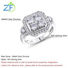Wedding Cubic Zirconia Wedding Engagement Rings Simple High Quality Wedding Silver 4A Cubic Zirconia Ring Classic Engagement Rings 925 Sterling Silver Jewelry