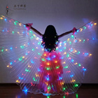 Children Butterfly Wings Kid Belly Dance Isis Led Wings Cloak for Performance Dancing Accessories