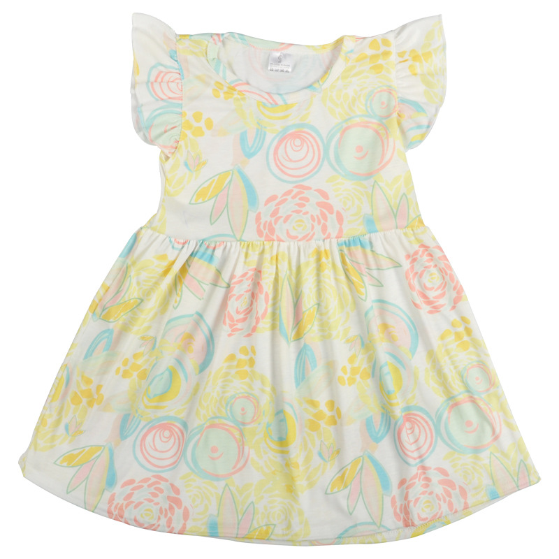 summer sleeveless <strong>fashion</strong> <strong>kids</strong> dress print cotton dress <strong>kids</strong> casual breathable soft <strong>kids</strong> girls clothes