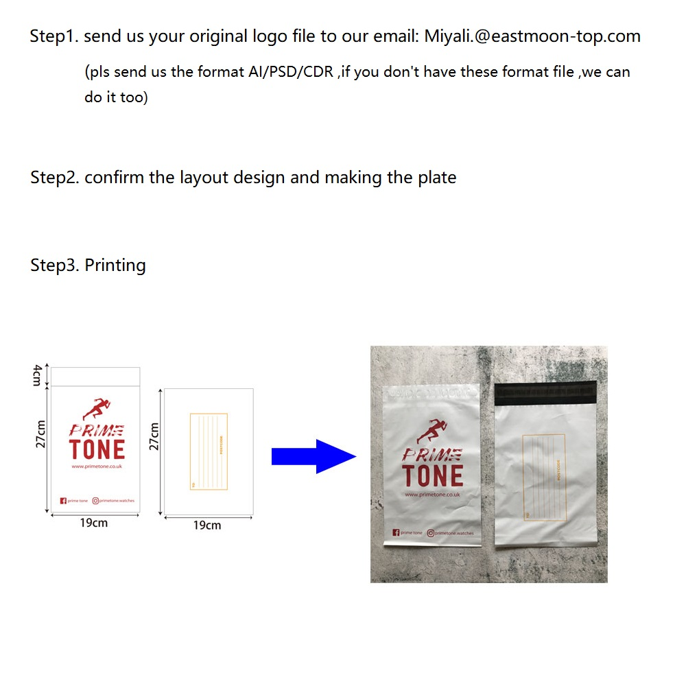 eco friendly packaging bag custom poly mailer /garment bag/shipping bags