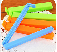 Hot sale food bag dampproof sealing clamps colored plastic durable sealing clips