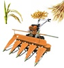 Rice harvester hand-held windrower durable small wheat corn harvester power tiller reaper attachment