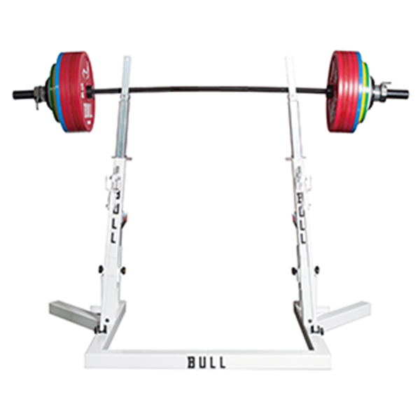Barbell adjustable squat rack for benchpress and squat competition