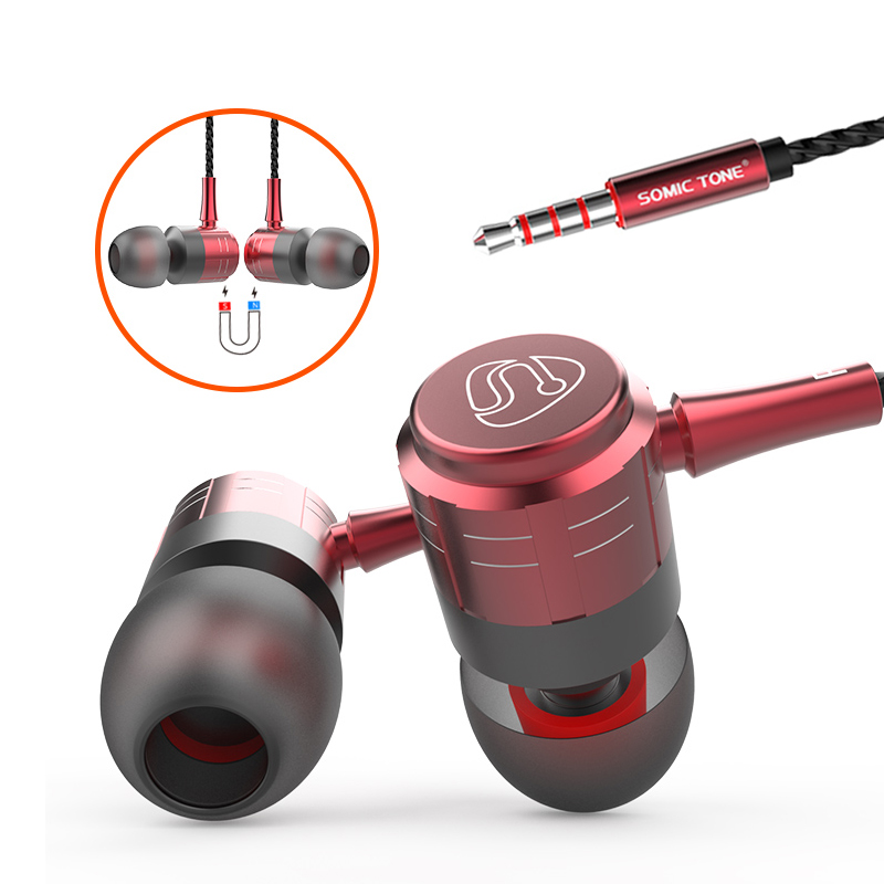 Sports Running Wired in-Ear Headphone Ergonomic Design Stereo Earbuds Earphones with Microphone and Volume Control - idealBuds Earphone | idealBuds.net