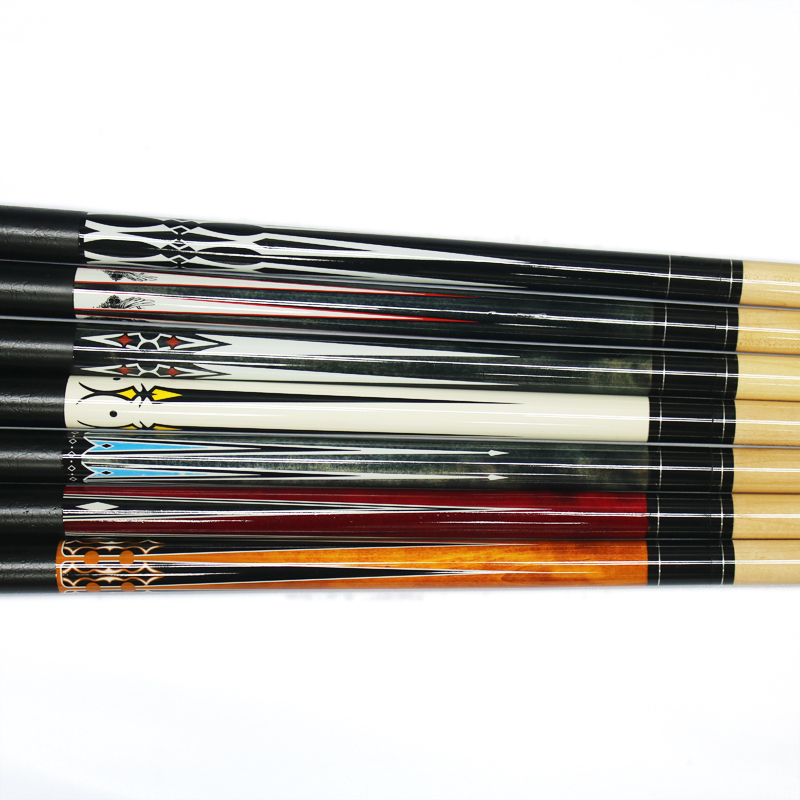 Cheap Price 13mm PU Leather Butt Maple Snooker Pool Billiard Cue Stick For Sale