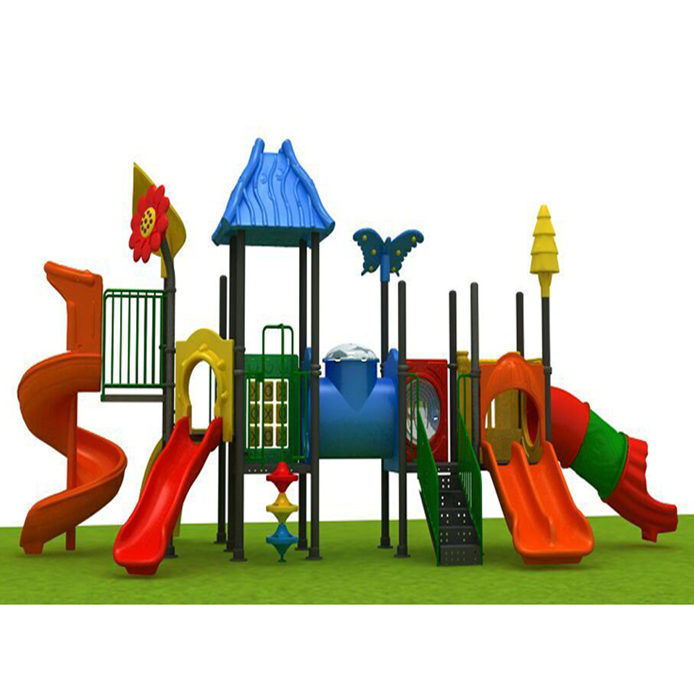 China factory supply India market kindergarten toys kids play items plastic slide playground