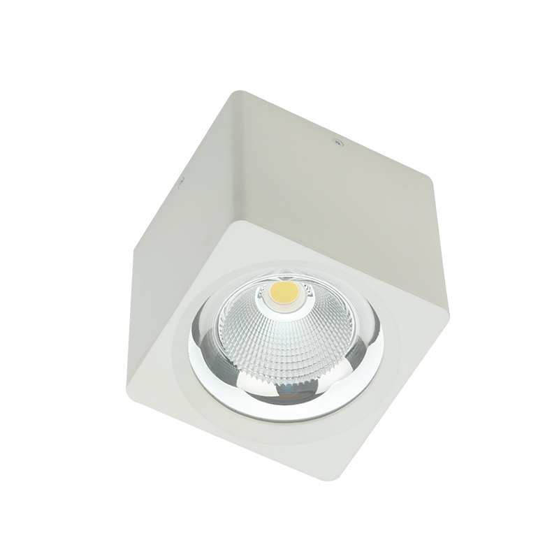 CE ROHS dimmable square cob led surface mounted down light 20w 30w 35w surface mounted led spot down lighting