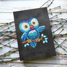 AZQSD Алмазная вышивка распродажа Ноутбук Специальной Формы Животных Алмазная мозаика Продажа Бабочка Цветок A5 Дневник Мозаика Подарок(Китай)