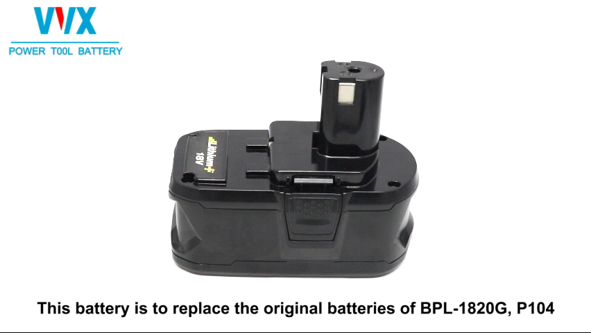 Rechargeable P108 cordless power drill li-ion battery for Ryo bi 18v tools