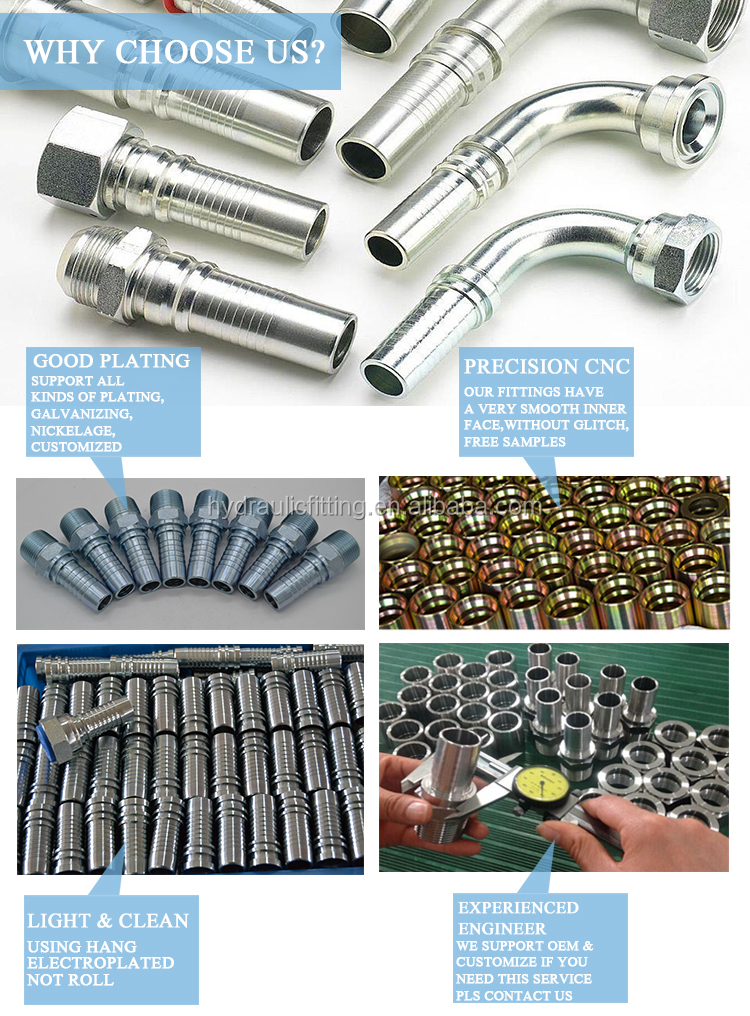 jic hose adapters hydraulic fitting plugs