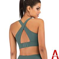 European and American yoga clothing sports bra female shockproof running yoga fitness vest back buckle yoga bra customized