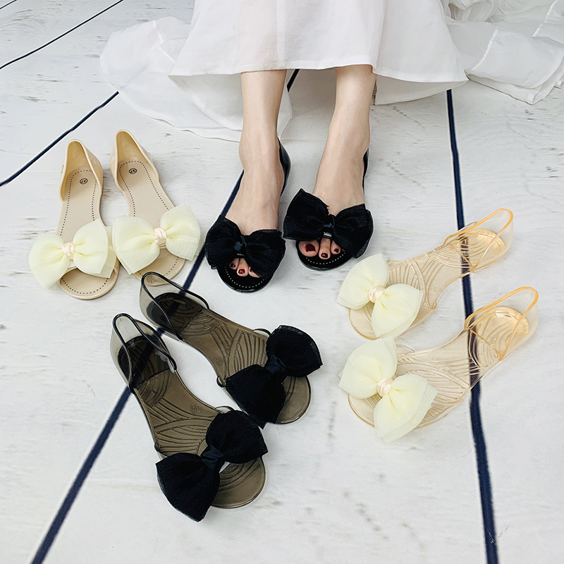 Lady Transparent Summer Shoes Flat Fashion Women Jelly Sandals
