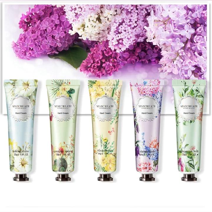 factory wholesale Flower fragrance 30g cosmetic hand cream moisturizing