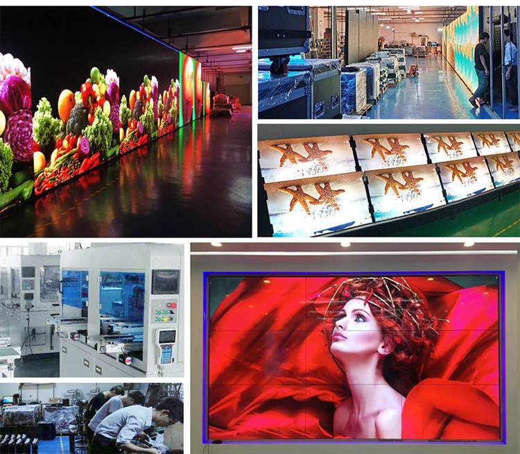 46 Inch Indoor super thin  5.5mm bezel factory Direct LCD Video Wall  display TV price