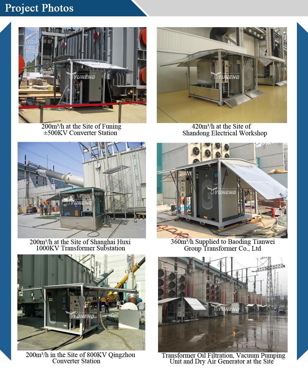 Hohe Qualität Trockene Luft Generator für Transformator Reparatur und wartung mit Atlas Air Kompressor