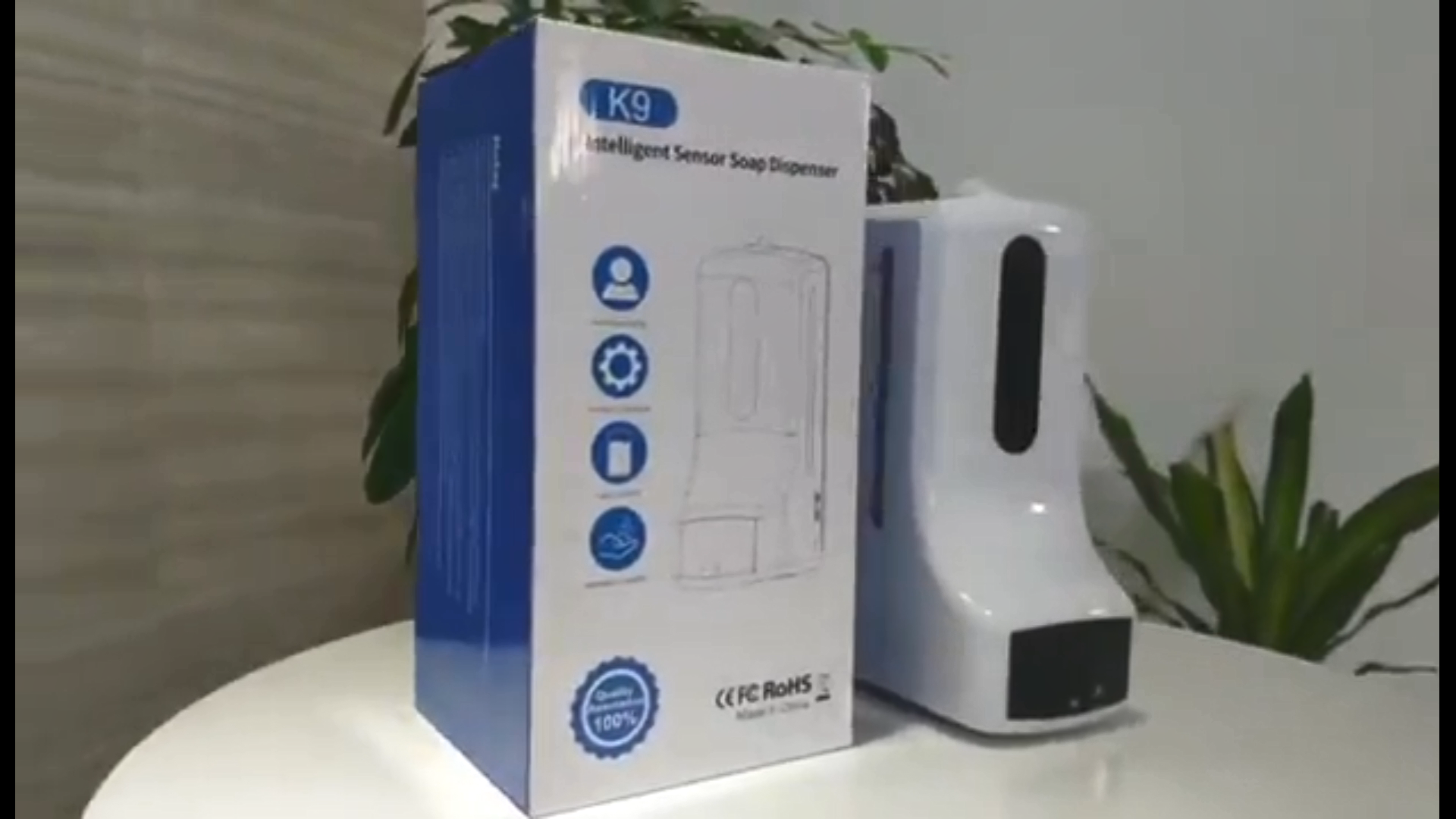 K9ตู้ทำสบู่อัตโนมัติระบบตรวจสอบอุณหภูมิแบบไร้สัมผัส,ตู้จ่ายสบู่อัตโนมัติในประเทศจีน