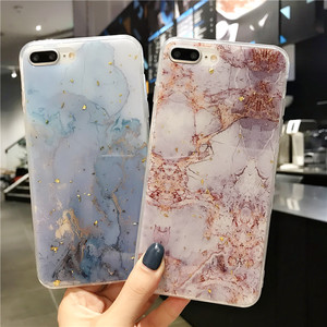 Phone Case For iPhone 11 6 6s 7 8 Plus X XR XS Max Luxury Bling Gold Foil Marble Glitter Soft TPU For iPhone 11 Pro Max
