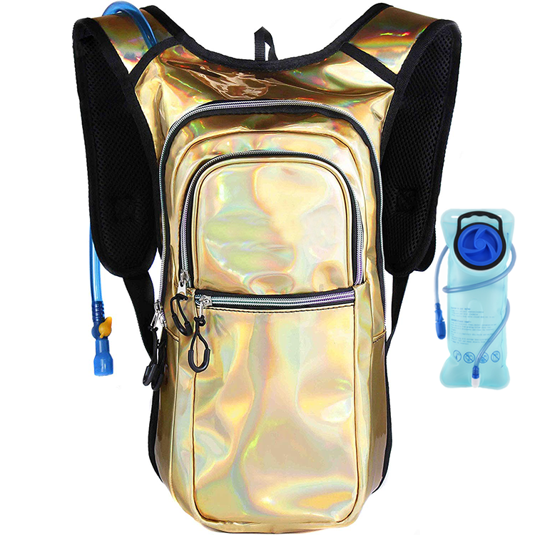 Osgoodway Trendy Bike Backpacks Waterproof Rave Hydration Pack with 2L Water Bladder