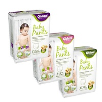 ECO friendly 100% wholesale Biodegradable Bamboo disposable Baby Diaper take care for sensitive skin
