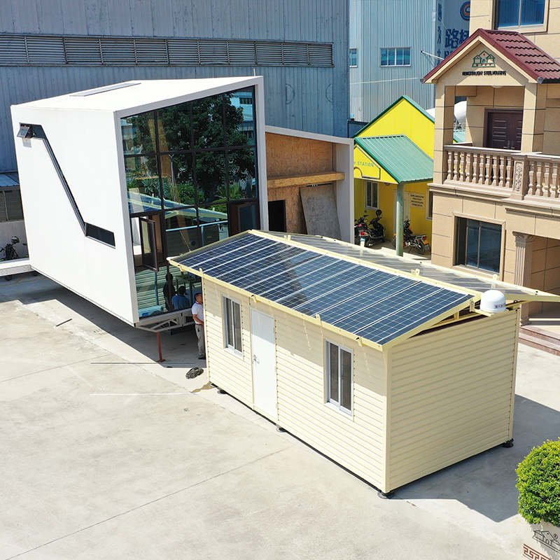 Fast Build Outdoor Beautiful Beach House Solar Energy Ready to LIve In Prefabricated House