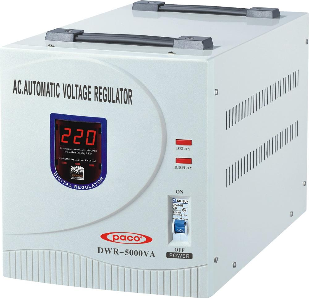 Regulador de voltaje variable 5kva/variable voltaje estabilizador 5000 W para 110 V/230 V AC
