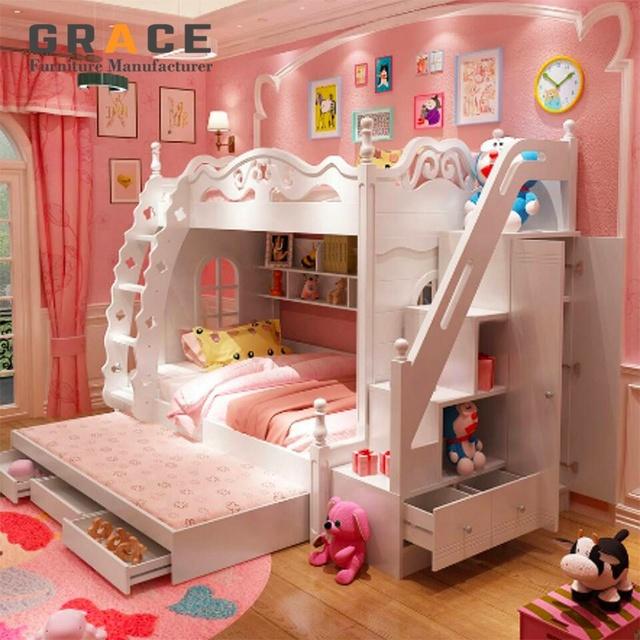 Kids Bedroom Furniture Set Children Bunk Bed With Study Desk Buy