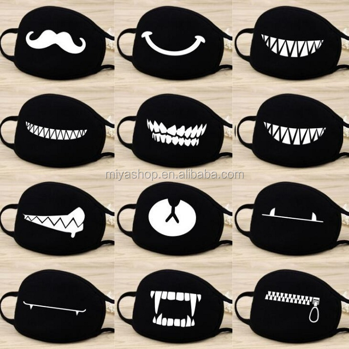 Personalized anti-fog cotton mask / unisex dustproof mouth mask / sunscreen cotton breathable mask