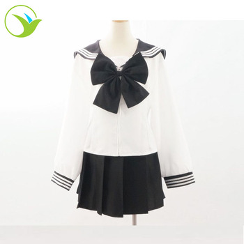 Chinese Custom hot style Anime Cosplay Cute Girl Japanese Sailor Suit School Uniform