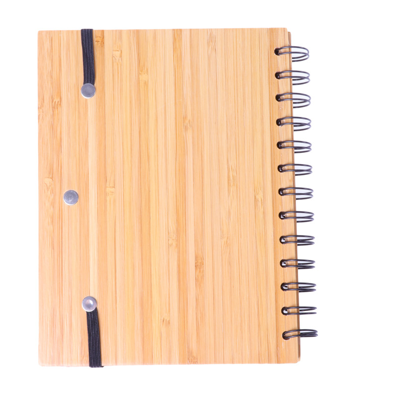 Wholesale In Stock Ready to Ship ECO-Friendly Bamboo Cover Notebook