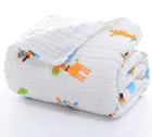 Baby bath towel cotton gauze newborn holding blanket terry is covered by six layers