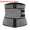Single belt zipper grey