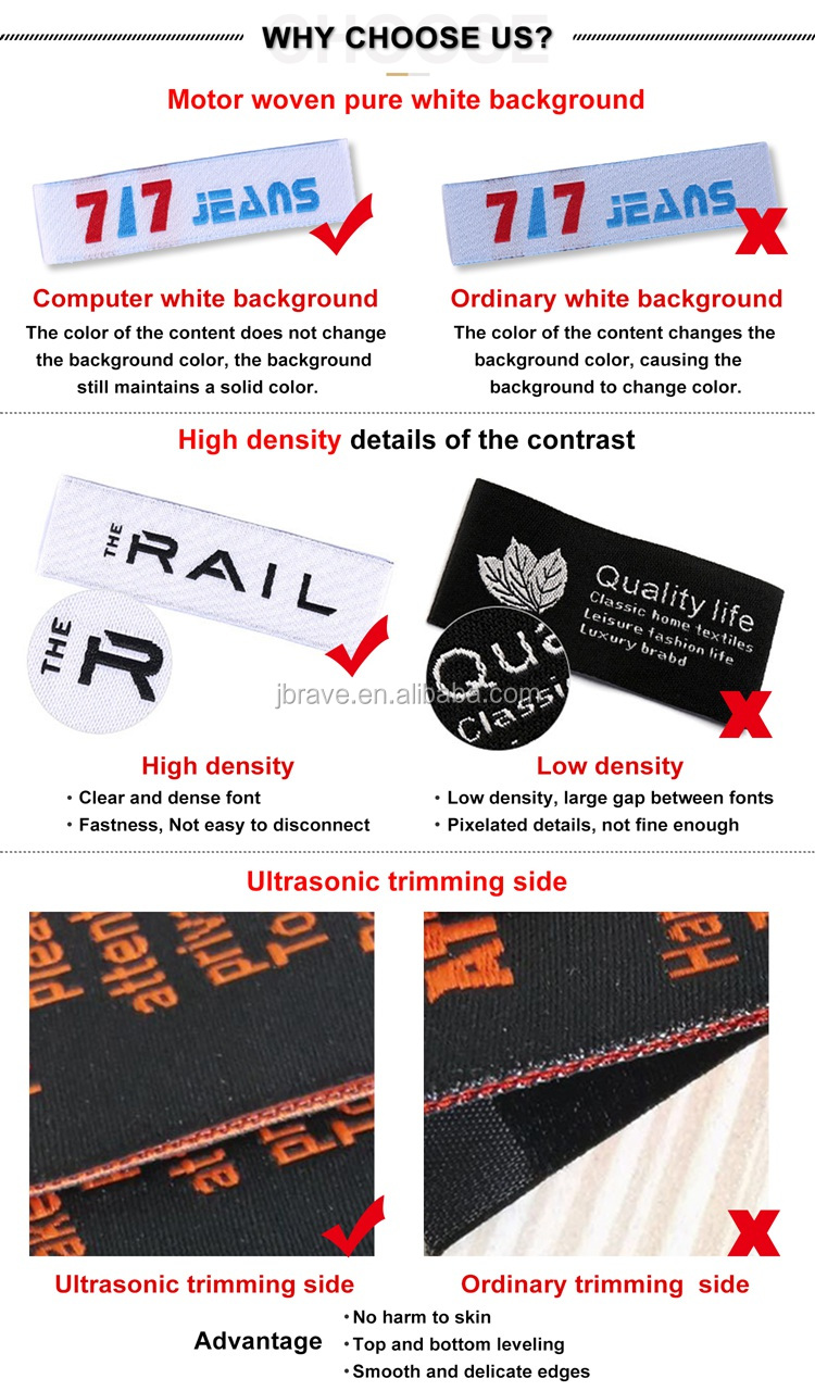 Custom Satin Woven Labels Fabric Tags, Customized Centerfold Garment Label For Clothing