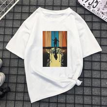 90 винтажная мягкая одежда для девочек с изображением аниме, летняя одежда для женщин, Белый Топ хиппи, летняя уличная одежда(China)