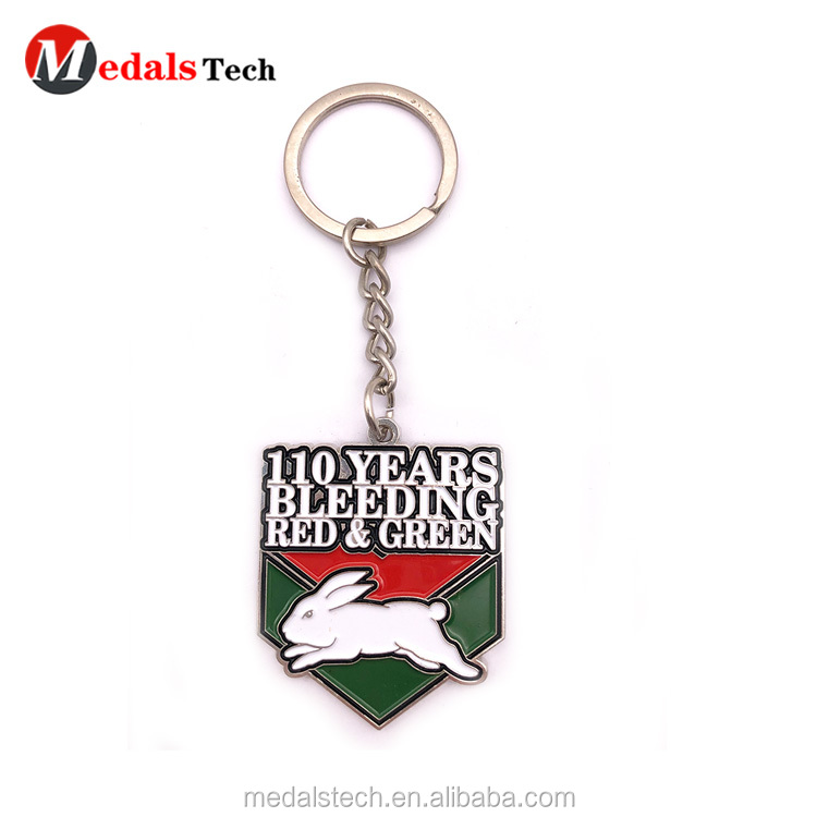 Promotional  double sides sticker design round metal keychain