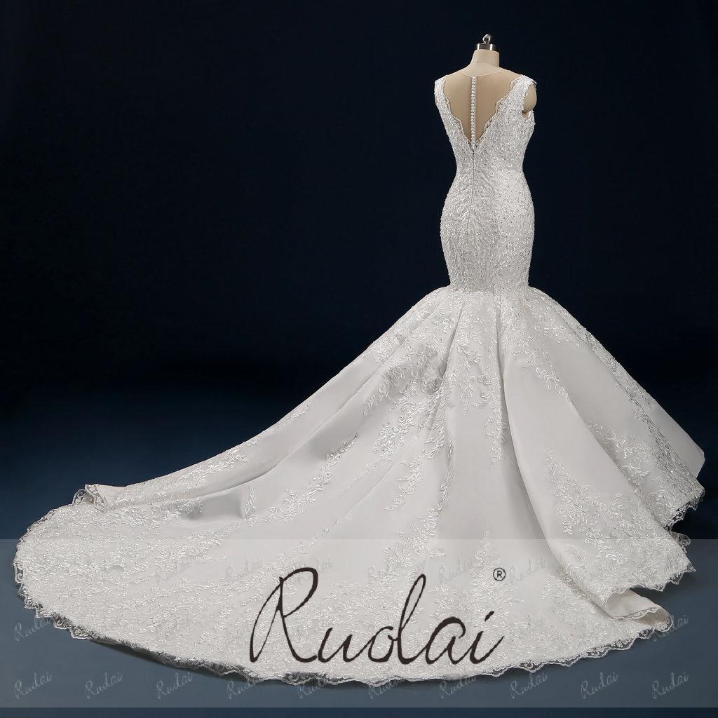 Pwd-h10 Hot Sale Afrika Appliqued Berpayet Ekor Panjang Putri Duyung Gaun  Pernikahan Gaun Pengantin Gaun - Buy Wedding Dress Gaun Pengantin,Gaun