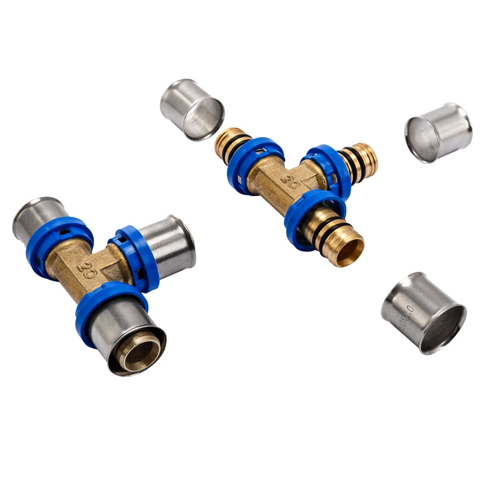 Efield press fittings pex al pex, brass straight adapter fitting, copper brass fitting