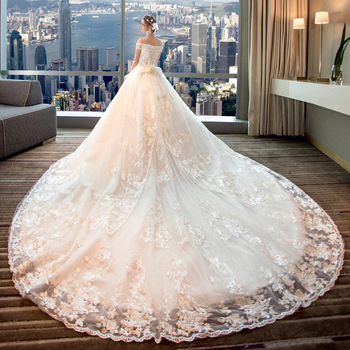 European And American Wedding Dress Mother Of The Bride Clothing New Off Shoulder Plus Size Pregnant Women Bride Princess Long Buy Mother Of The Bride Clothing Bride Dress Plus Size Dresses Mother Bride,White Silk Ball Gown Wedding Dress