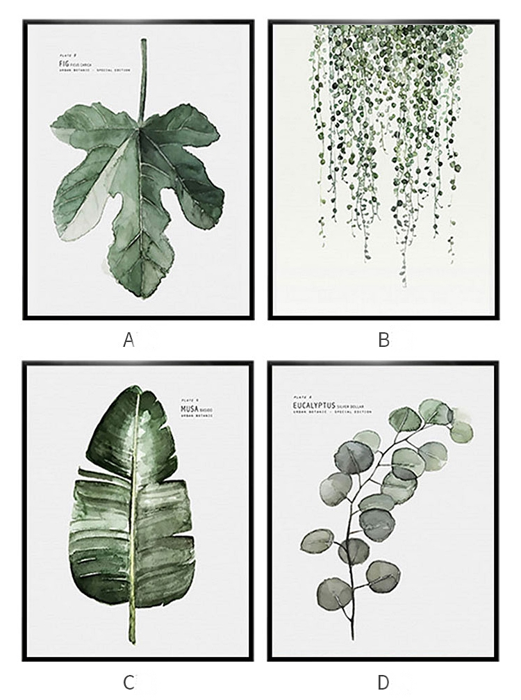 Tropical Plants Wall Art Canvas Pictures Nordic Green Leaf Style Prints Painting Modern Art Landscape Posters Decor painting