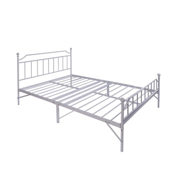 Metal folding home bedroom furniture double/full size bed frames